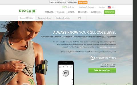 Dexcom G5 Mobile CGM System | Glucose on your phone | Dexcom