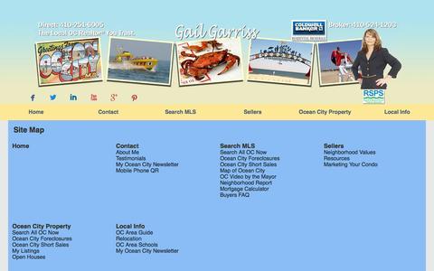 Screenshot of Site Map Page occondo.com - Site Map - captured Oct. 1, 2014