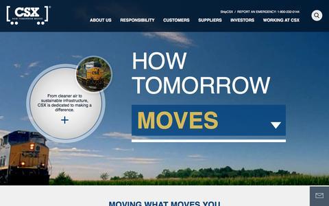Screenshot of Home Page csx.com - Home - CSX.com - captured Jan. 6, 2016