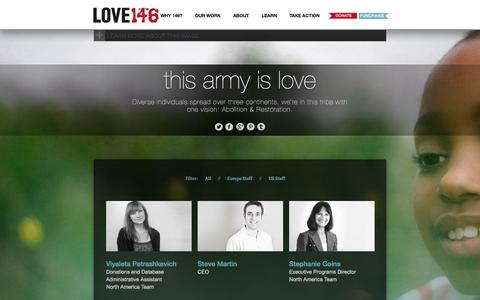 Screenshot of Team Page love146.org - LOVE146 | this army is love - captured Sept. 24, 2014