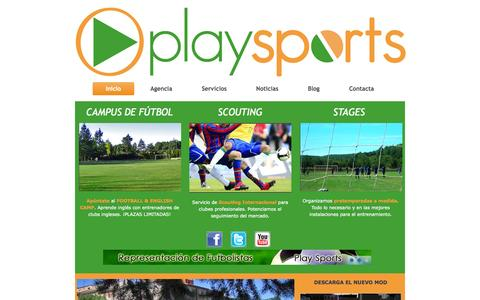 Screenshot of Home Page playsports.es - Inicio - captured Oct. 2, 2014