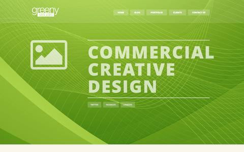 Screenshot of Home Page greenyvisuals.com - Greeny Visuals | Commercial creative design - captured Sept. 30, 2014