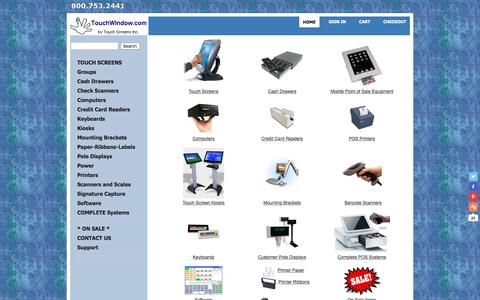 Screenshot of Home Page touchwindow.com - Wide Range of Touch Screen Options | 800.753.2441 | Touch Screens Inc. - captured June 13, 2018