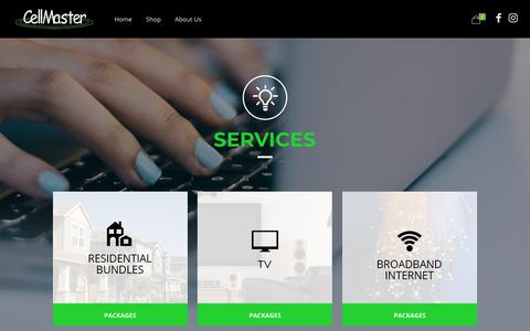 Screenshot of Services Page cellmaster.com - Services - Latest Cell Phones, Best Camera Phone in Trinidad - captured July 16, 2018