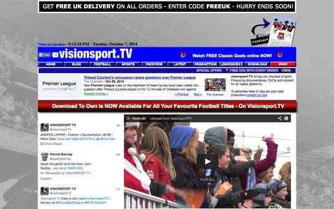 Screenshot of Home Page visionsport.co.uk - visionsport TV brings you freeviews, trailers and a DVD shop - captured Oct. 7, 2014