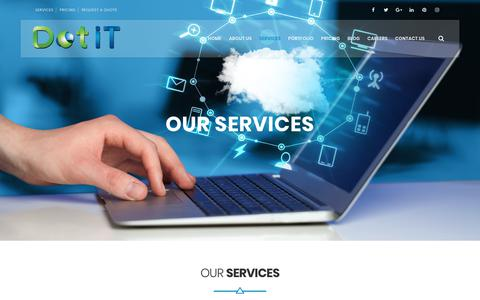 Screenshot of Services Page dotit.org - Dot IT | Web Development Services in Egypt, SEO, Branding, Software - captured Aug. 5, 2018