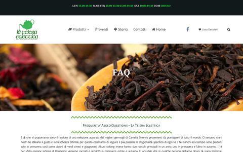 Screenshot of FAQ Page teieraeclettica.it - FAQ – La Teiera Eclettica - captured Sept. 26, 2018