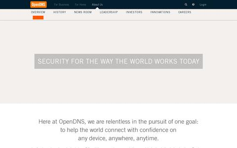 Screenshot of About Page Contact Page opendns.com - About | OpenDNS - captured July 20, 2014