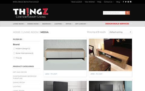Screenshot of Press Page thingzcontemporary.com - Media Archives - Thingz Contemporary Living - captured Nov. 17, 2017