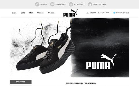 Screenshot of Home Page missionmca.com - Buy Latest Puma Shoes Online in NZ, Shop for Puma shoes | save 50% off sale - captured Oct. 20, 2018