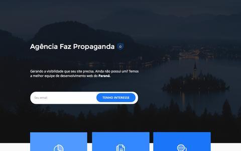 Screenshot of Home Page agenciafazpropaganda.com.br - Agência Faz Propaganda - captured Nov. 20, 2016