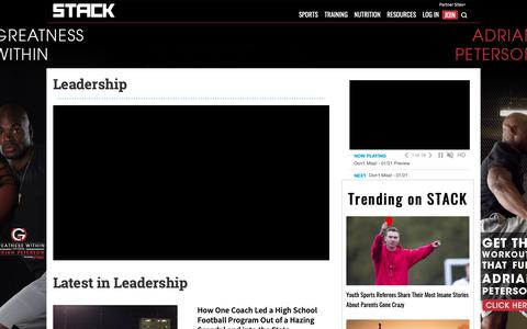 Screenshot of Team Page stack.com - Leadership | STACK - captured Jan. 21, 2019