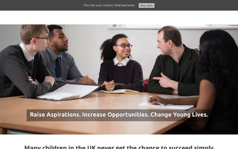 Screenshot of Home Page makingtheleap.org.uk - Making the Leap |Raise Aspirations. Increase Opportunities. Change Young Lives. - captured July 6, 2018