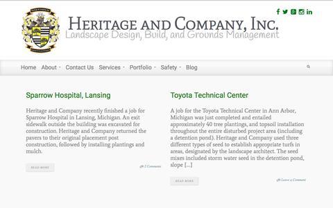 Screenshot of Blog heritageandcompany.com - Blog | Heritage and Company, Inc. - captured Jan. 29, 2016