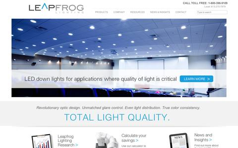 Screenshot of Home Page leapfroglighting.com - Index of / - captured Sept. 12, 2014