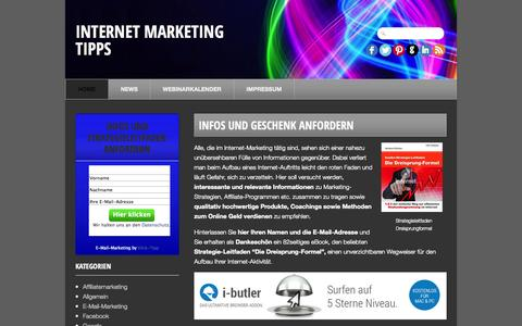 Screenshot of Home Page internet-marketing-tipps.info - Internet Marketing Tipps - captured Sept. 24, 2014