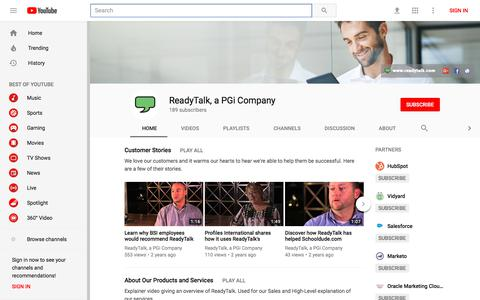 ReadyTalk, a PGi Company - YouTube - YouTube