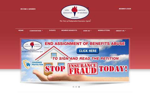 Screenshot of Home Page laaia.com - Latin American Association of Insurance Agencies (LAAIA) - captured Jan. 22, 2016