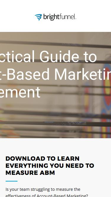 The Practical Guide to Account Based Measurement