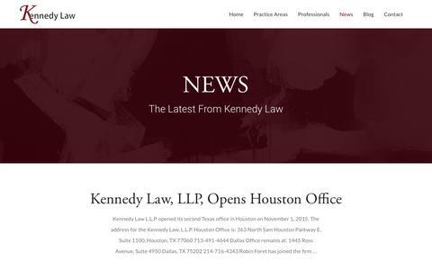 Screenshot of Press Page saklaw.net - News - Kennedy Law - captured Feb. 12, 2016