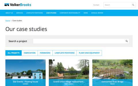 Screenshot of Case Studies Page volkerbrooks.co.uk - Case studies         -     VolkerBrooks - captured Sept. 20, 2018