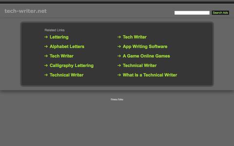 Screenshot of Home Page tech-writer.net - Tech-Writer.net - captured March 1, 2017