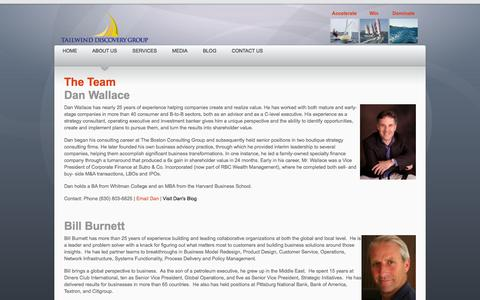 Screenshot of Team Page tailwinddiscoverygroup.com - Team - captured Oct. 9, 2014