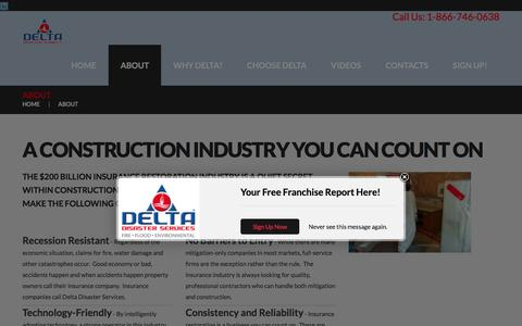 Screenshot of About Page delta-us.com - About - Delta Development GroupDelta Development Group - captured Feb. 9, 2016
