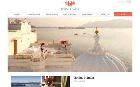 Screenshot of Blog traveleast.in - Official Blog - Travel East - captured Oct. 20, 2018