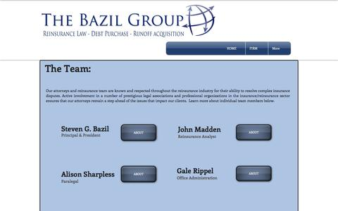 Screenshot of Team Page thebazilgroup.com - The Bazil Group - Team - captured June 1, 2017