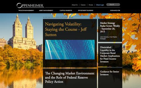 Screenshot of Home Page opco.com - Welcome to Oppenheimer & Co. Inc. - captured Oct. 1, 2015