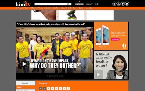 Screenshot of Home Page kinitv.com - KiniTV - Your Story, Our Camera - captured Nov. 10, 2015