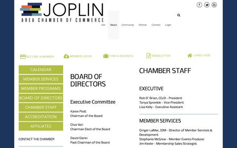 Screenshot of About Page joplincc.com - About - Joplin Area Chamber of Commerce - captured Jan. 6, 2017