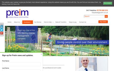 Screenshot of Developers Page preim.co.uk - Working with Property Developers | Managing Agent | Preim - captured Oct. 8, 2016