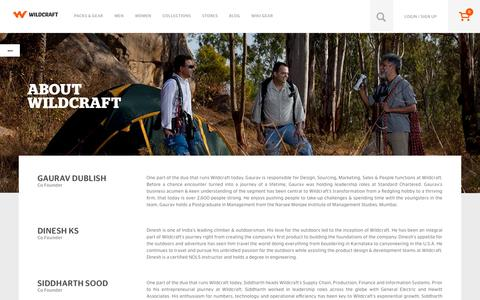 Screenshot of About Page wildcraft.in - About Us - captured Dec. 9, 2015