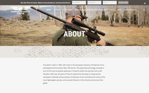 Screenshot of About Page christensenarms.com - About - Christensen Arms - captured May 17, 2017