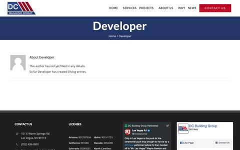 Screenshot of Developers Page buildwithdcbg.com - Developer, Author at DC Building Group - captured Oct. 7, 2018