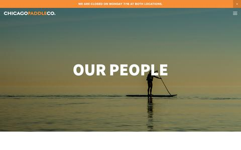 Screenshot of Team Page chicagopaddlecompany.com - Our People — Chicago Paddle Company - captured July 17, 2018