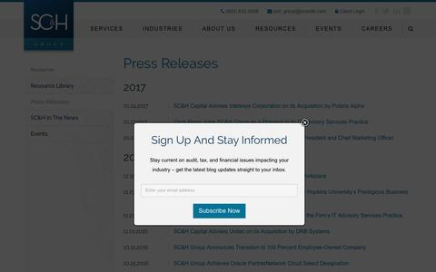 Press Releases Archive - SCandH Group