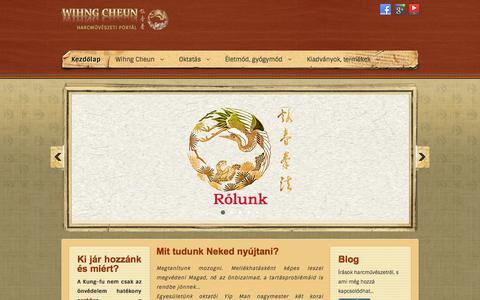 Screenshot of Home Page kyuhnfaat.hu - Kezdőlap - captured Sept. 17, 2015