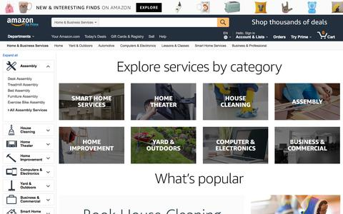 Screenshot of Services Page amazon.com - Amazon.com: Home & Business Services - captured July 25, 2017