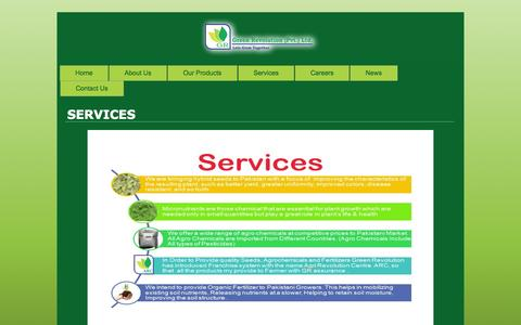 Screenshot of Services Page greenrevolution.com.pk - New Page | Green Revolution | Revolution in the Agricultural Field - captured Sept. 22, 2014
