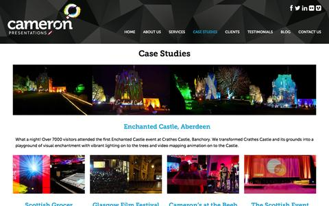 Screenshot of Case Studies Page cameronpres.co.uk - Case Studies Archives - Cameron PresentationsCameron Presentations - captured Nov. 1, 2014