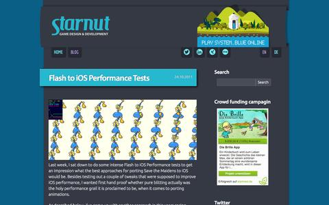 Screenshot of Blog starnut.com - Blog | Starnut | Michel Wacker – Game Design & Development - captured Oct. 9, 2014