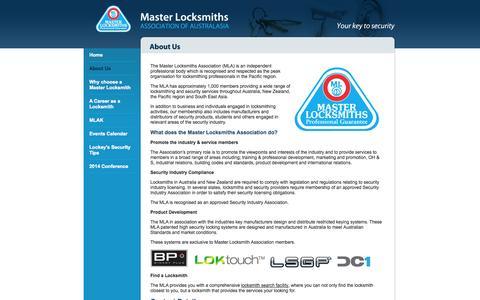 Screenshot of About Page masterlocksmiths.com.au - Locksmith Melbourne, 24 Hour Locksmith, Auto & Car Locksmith - About Master Locksmiths Association - captured Oct. 27, 2014