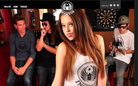 Screenshot of Home Page invictusclothing.com - Invictus Clothing | 50 % All Clothing! - captured Feb. 11, 2016