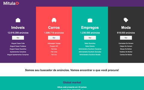Screenshot of Home Page mitula.com.br - Buscador de imóveis, carros e emprego no Brasil   Mitula - captured June 20, 2017