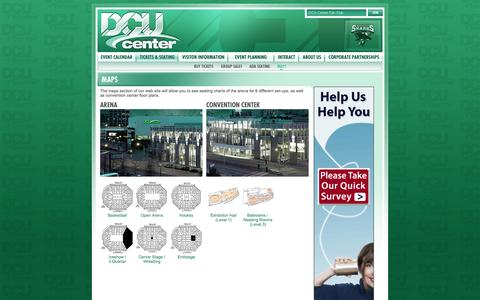 Screenshot of Maps & Directions Page dcucenter.com - DCU CENTER - New England's premier Arena & Convention Complex! - captured Sept. 30, 2014