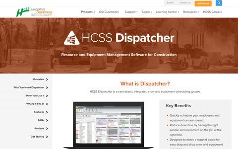 Dispatching Software | HCSS Dispatcher