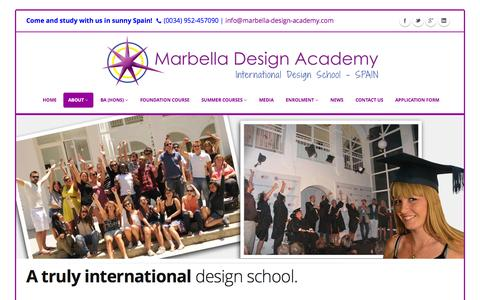 Screenshot of About Page designschool.com - About Us | Marbella Design Academy - captured Oct. 30, 2014
